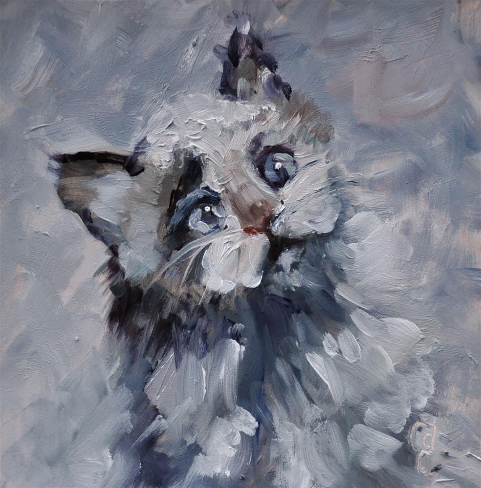 """Kitten Cuddle"" original fine art by Catherine Crookston"