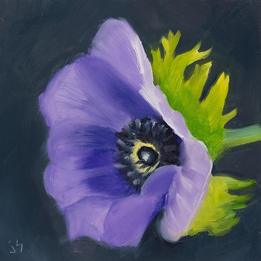 """""""Purple Power"""" original fine art by Johnna Schelling"""