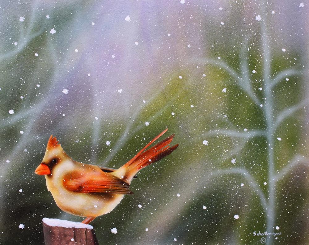 """""""Frigid Perch"""" original fine art by Fred Schollmeyer"""