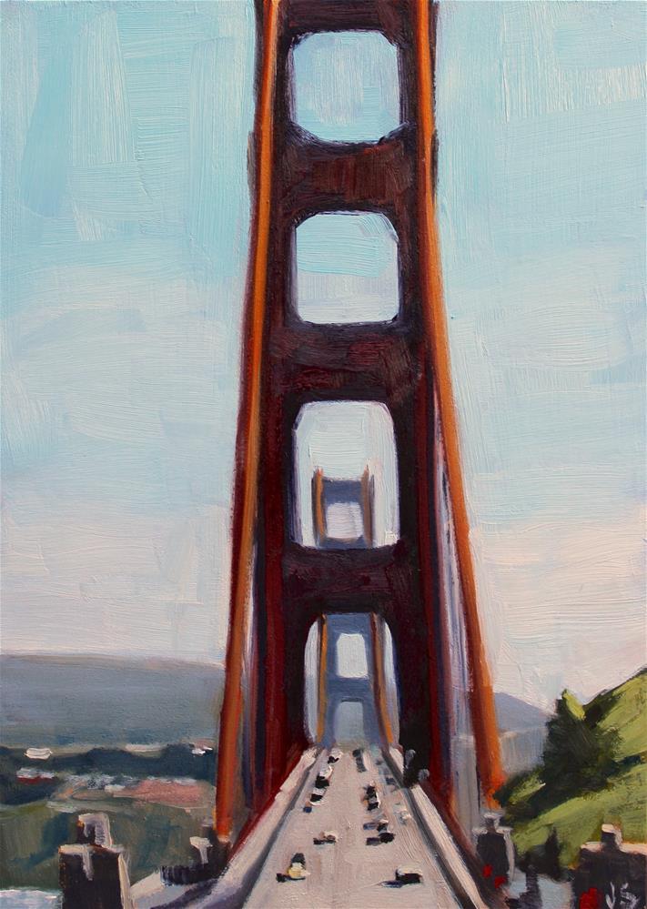 """The Orange Bridge"" original fine art by Jamie Stevens"