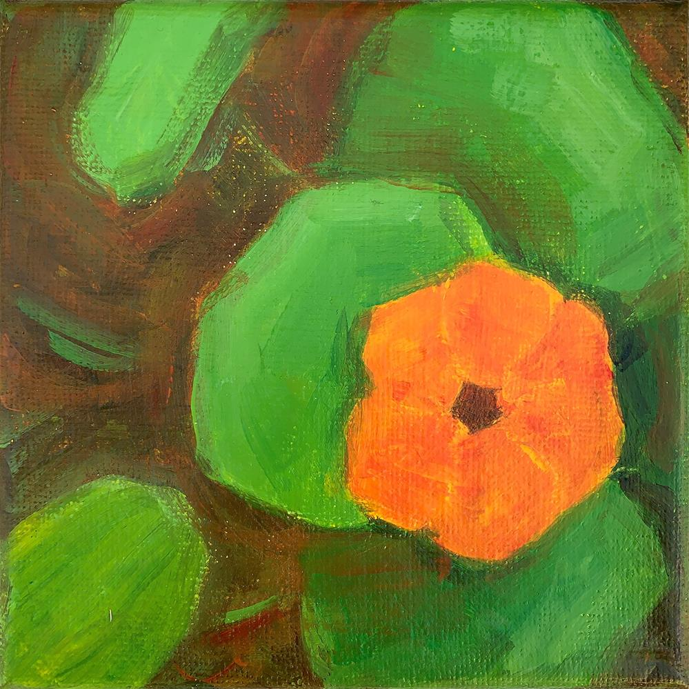 """Orange & Green"" original fine art by Kim Victoria"