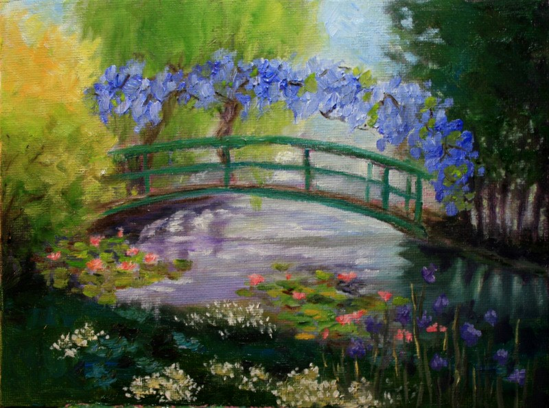 """""""Giverney Spring"""" original fine art by Jean Nelson"""