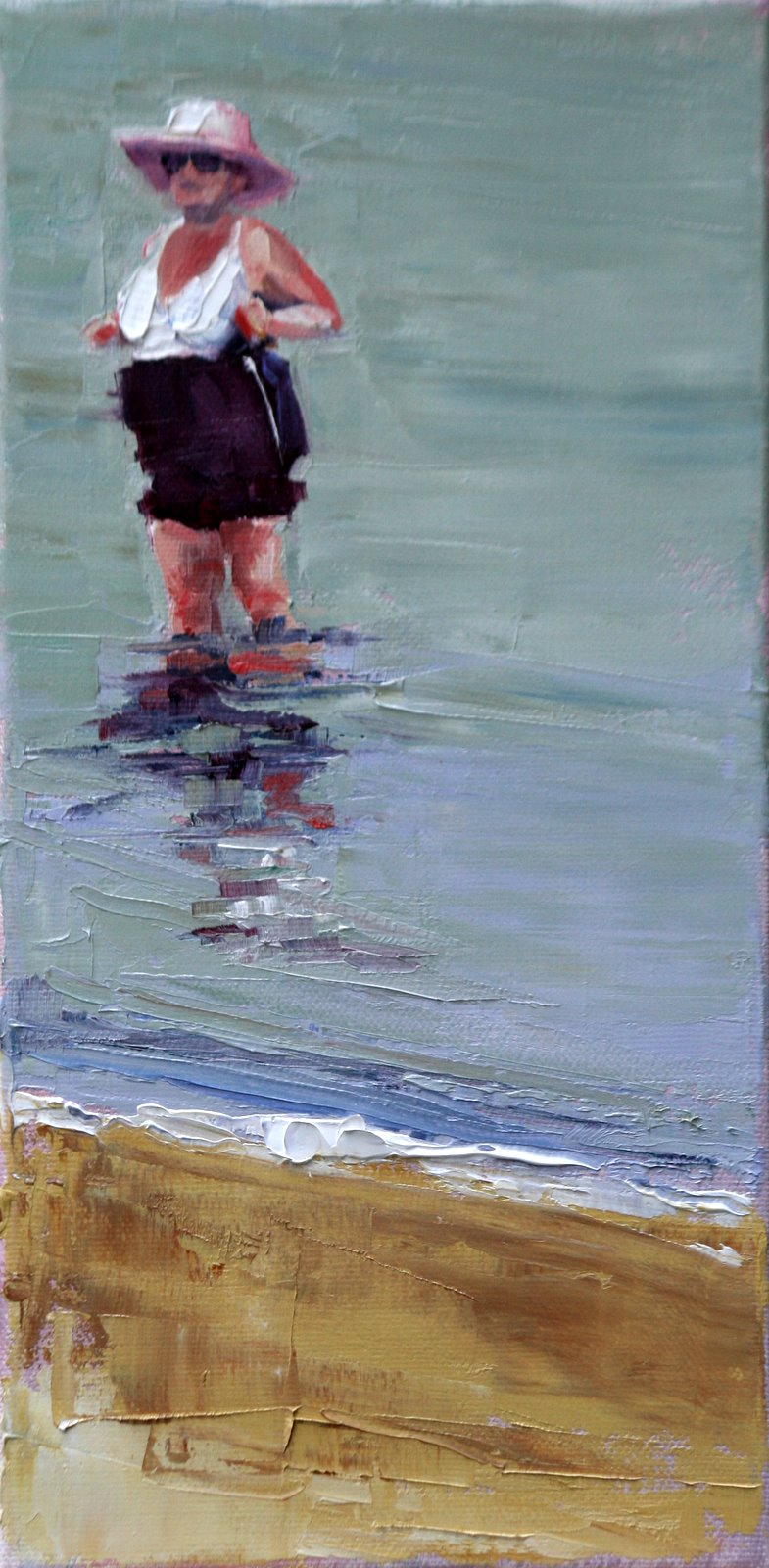 """""""busty in boston"""" original fine art by Carol Carmichael"""