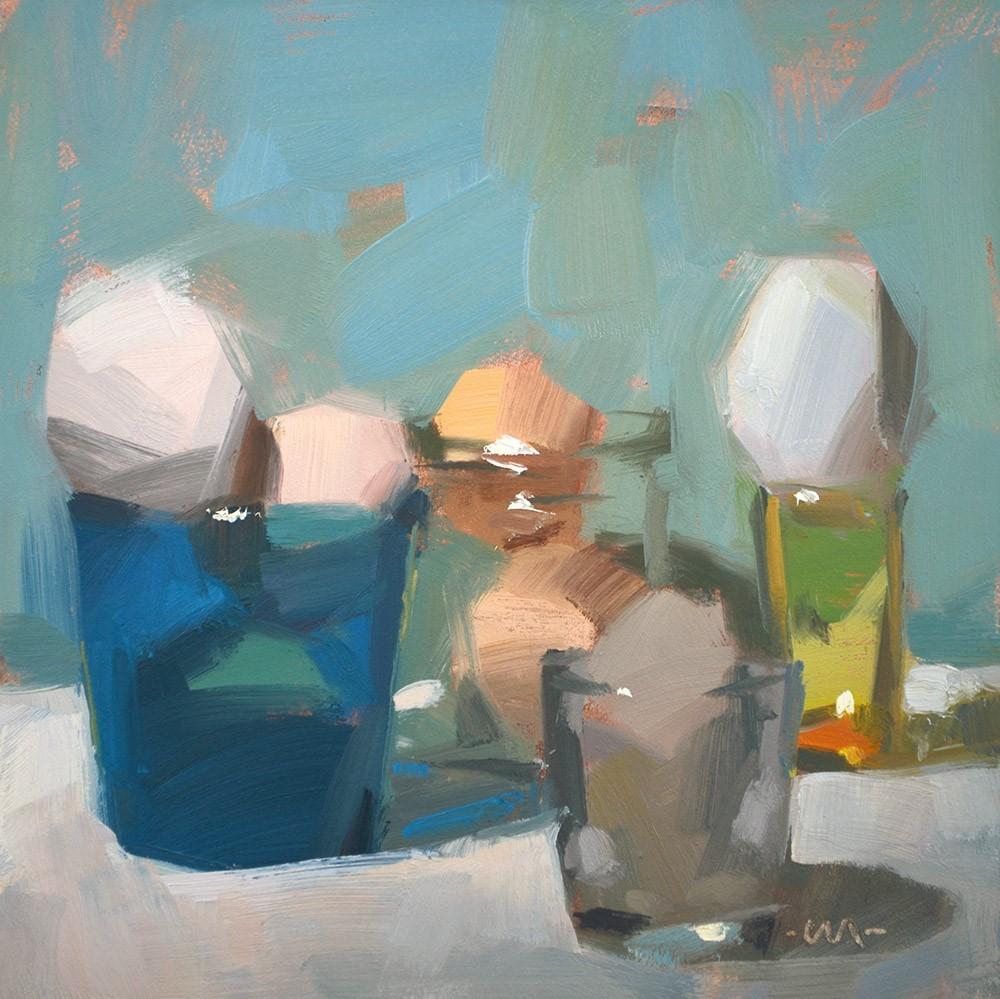 """Eggcentrics"" original fine art by Carol Marine"
