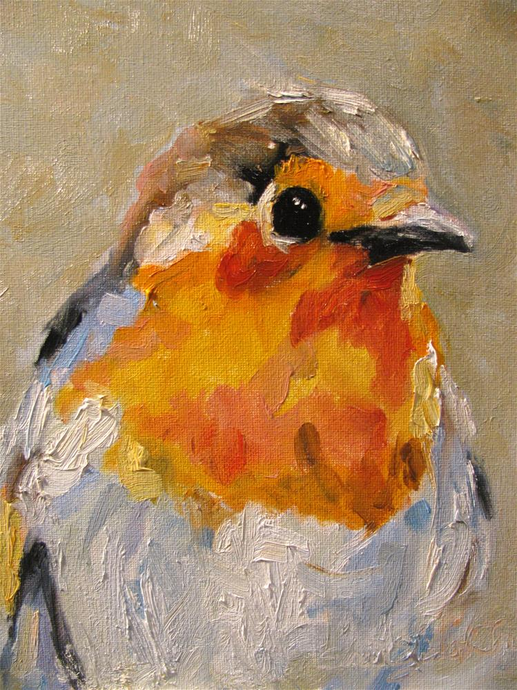"""Flycatcher"" original fine art by Susan Elizabeth Jones"