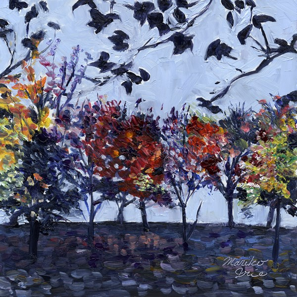 """Autumn Trees"" original fine art by Mariko Irie"