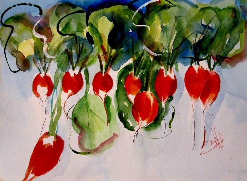 """Radish"" original fine art by Delilah Smith"