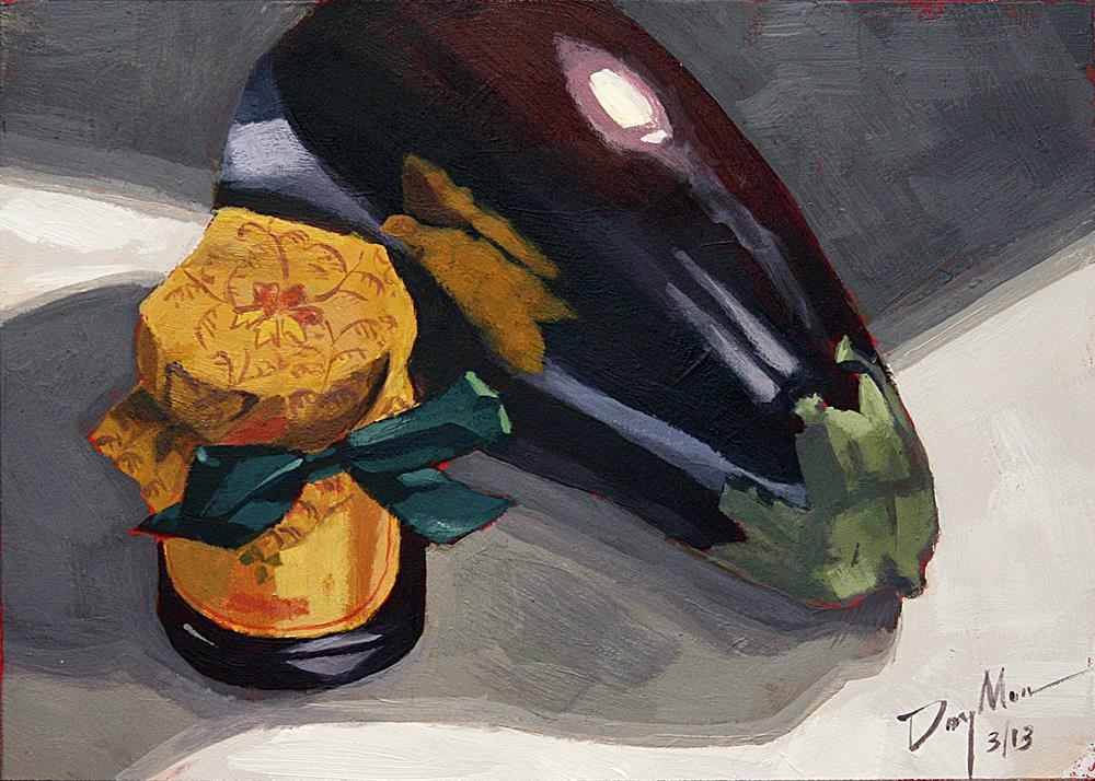 """Eggplant and Fig Jam"" original fine art by Mike Daymon"