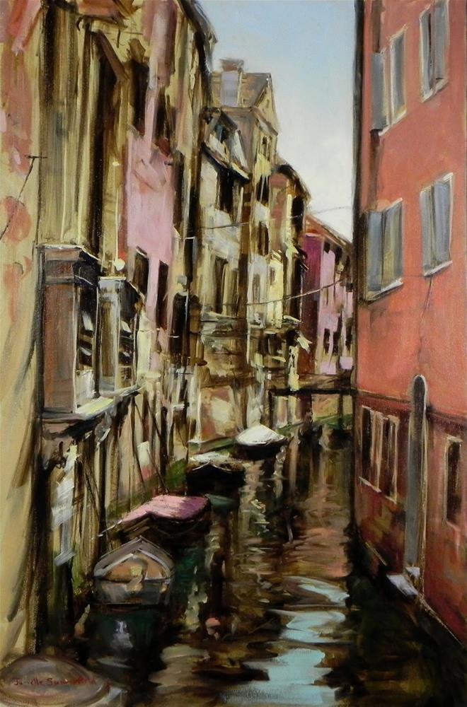 """""""A Canal in Venice"""" original fine art by Jonelle Summerfield"""