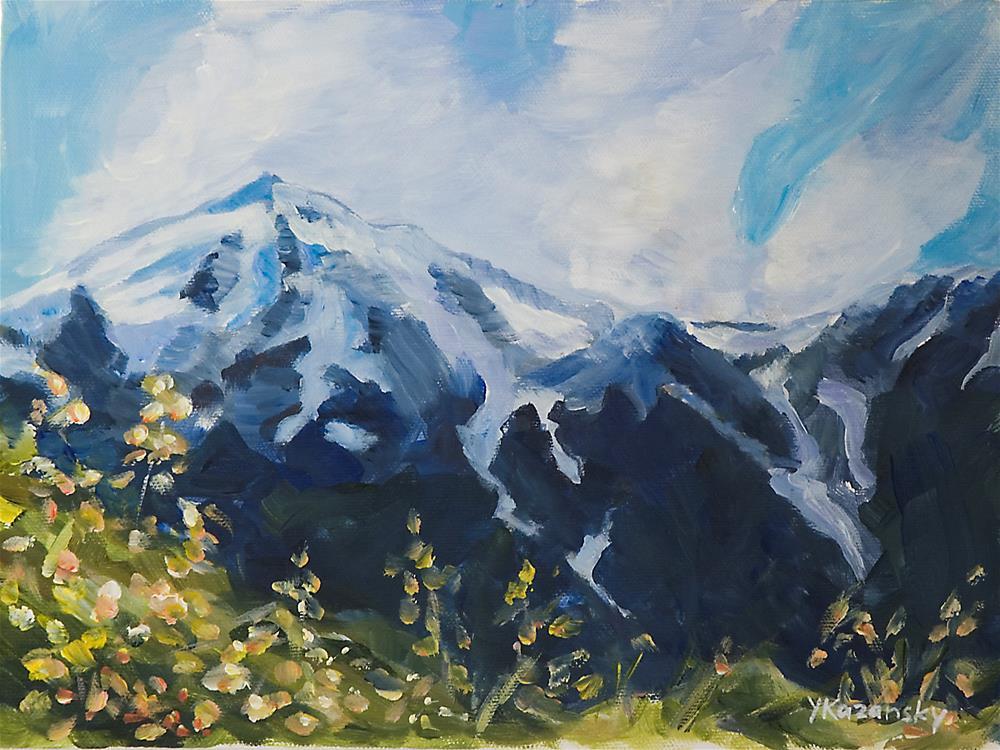 """Perseverance Trail, Juneau, Alaska"" original fine art by Yulia Kazansky"