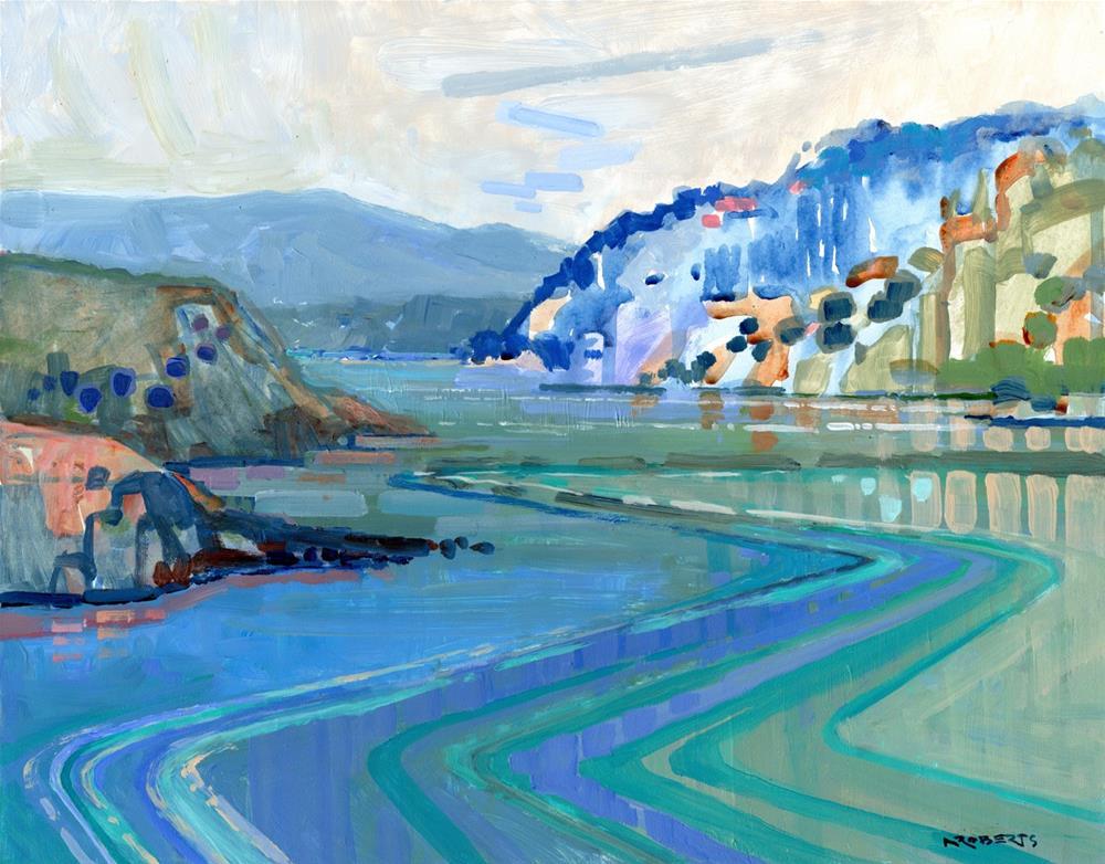 """Glen Cove Vista"" original fine art by Nancy Roberts"