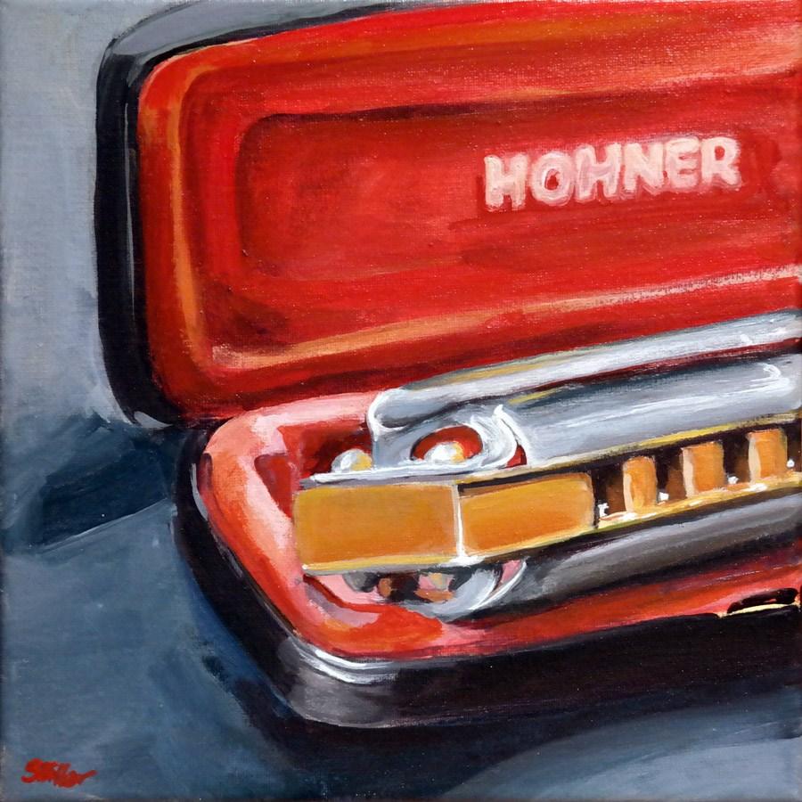 """""""1321 Blues Harp"""" original fine art by Dietmar Stiller"""