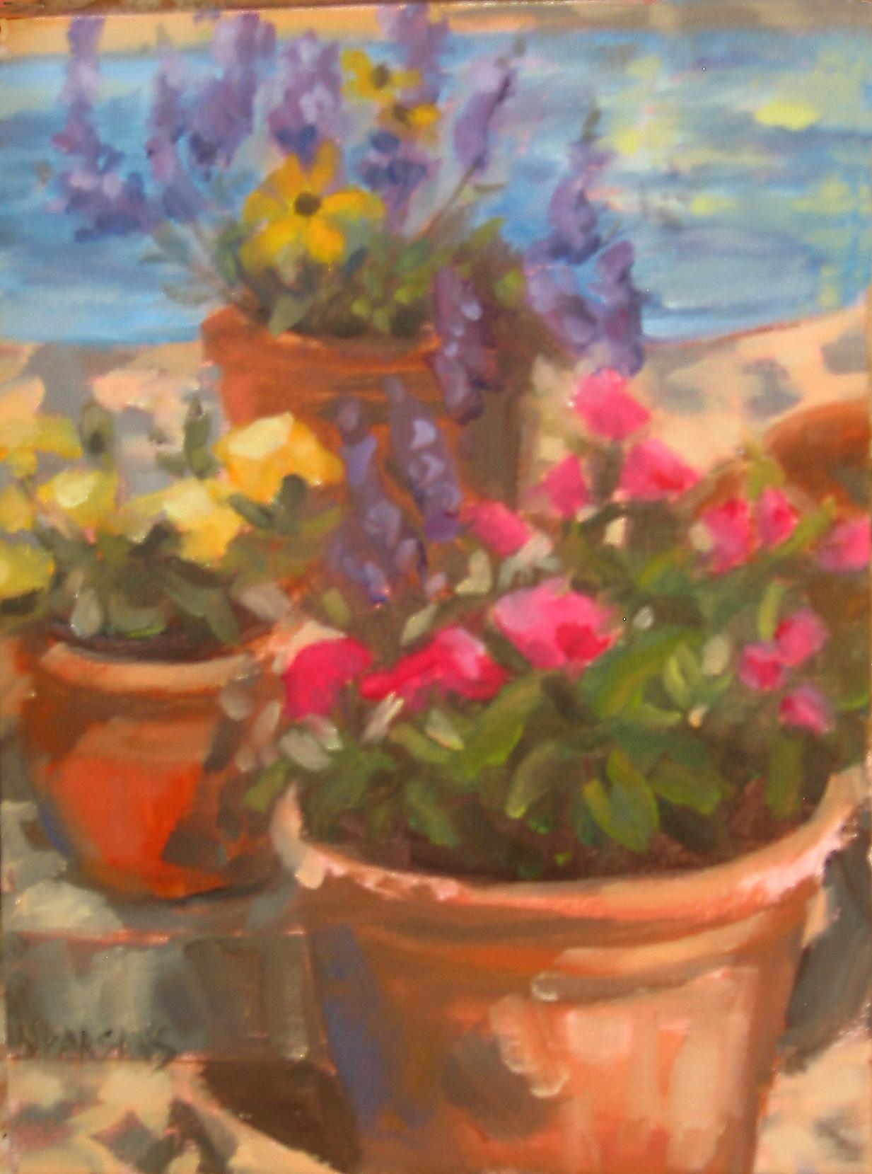 """Fall Show Offs"" original fine art by Nancy Parsons"