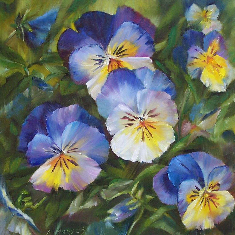 """Disco Pansies"" original fine art by Donna Munsch"