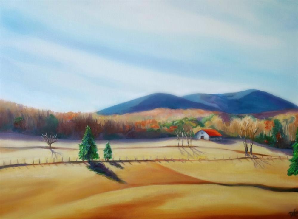 """Harvested Wheat Field"" original fine art by Dana C"