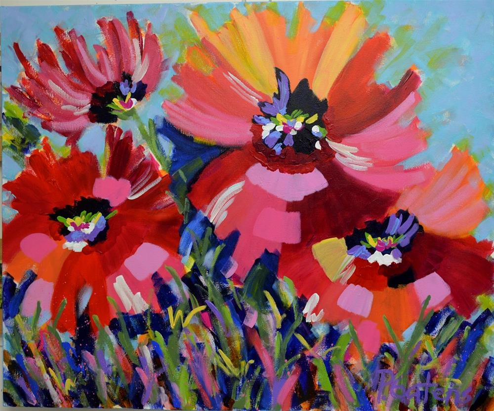 """Pretty Poppies"" original fine art by Pamela Gatens"
