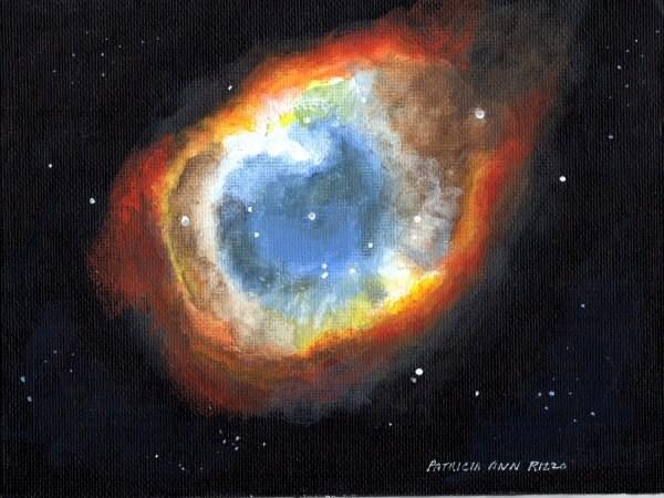 """Helix Nebula The Eye of God"" original fine art by Patricia Ann Rizzo"