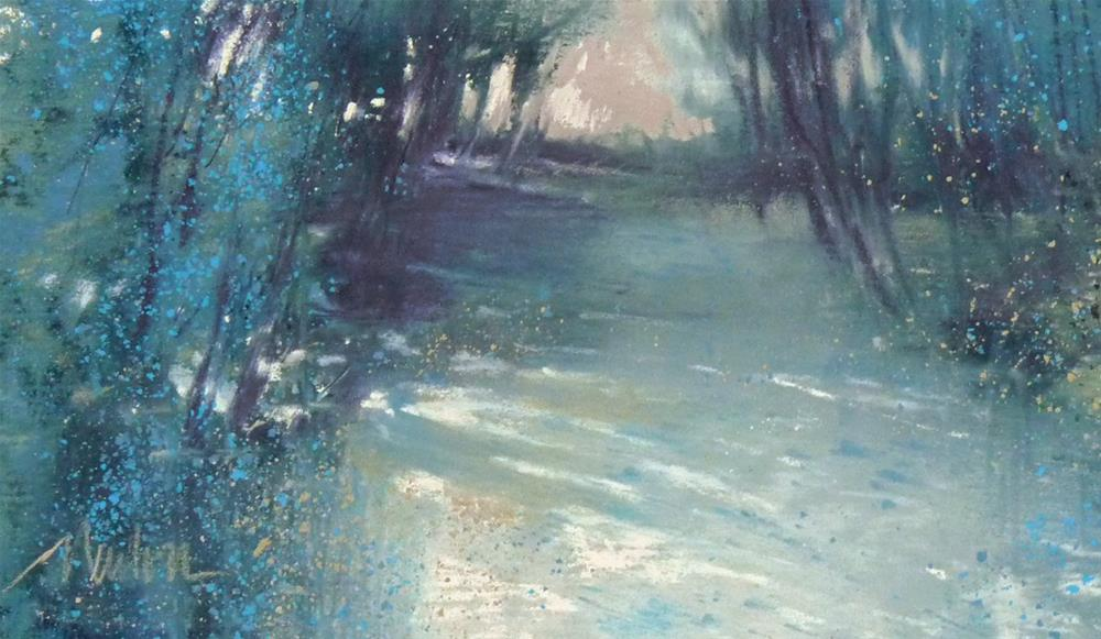 """Woodland Light"" original fine art by Barbara Benedetti Newton"