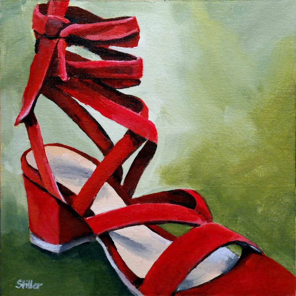"""2346 Complementary Shoes"" original fine art by Dietmar Stiller"