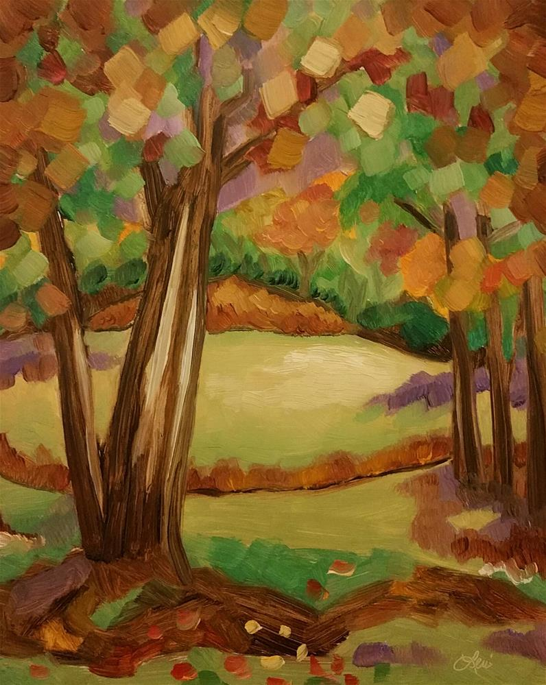 """Caramel Fall"" original fine art by Leni Tarleton"