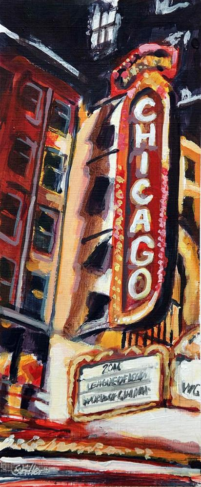 """1933 Chicago"" original fine art by Dietmar Stiller"