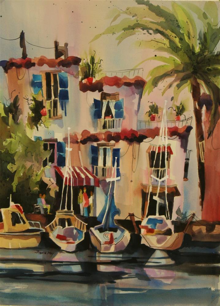 """Seaside Capri"" original fine art by Jinnie May"