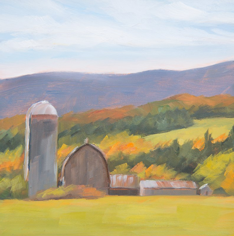"""#41 - Autumn - Barn - Morristown, VT"" original fine art by Sara Gray"