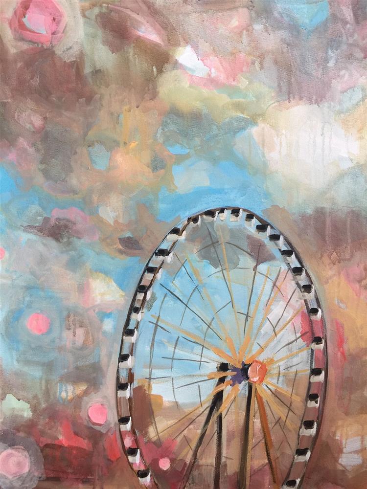 """617 Paris Ferris"" original fine art by Jenny Doh"