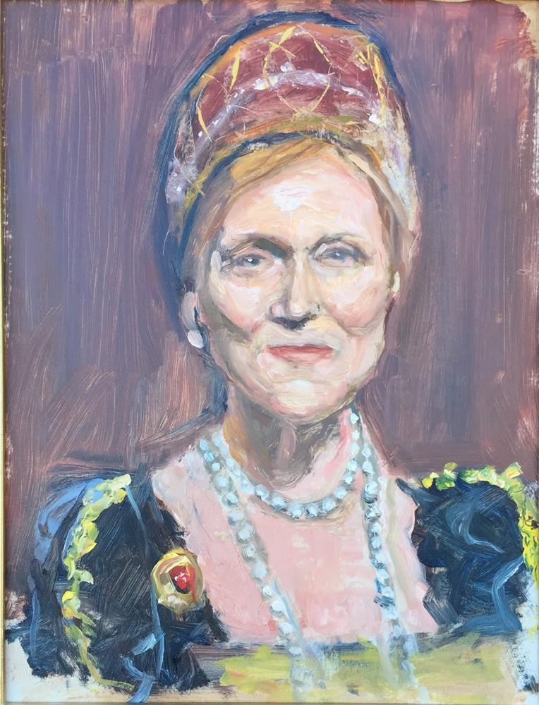 """Queen's Portrait"" original fine art by Rick Blankenship"