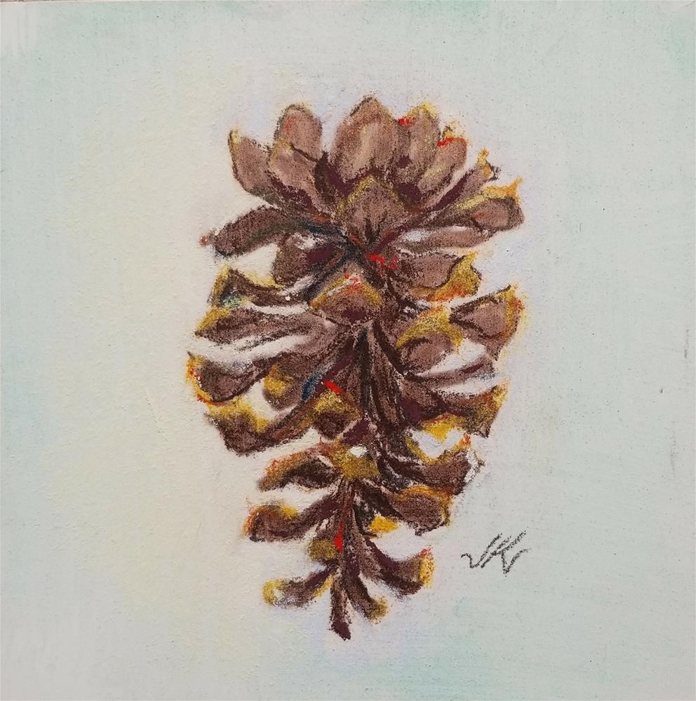 """Cone of the Pine"" original fine art by Jean Krueger"