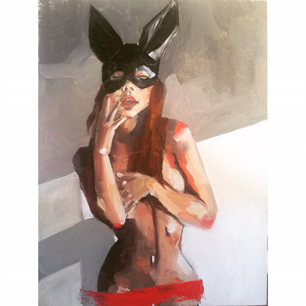 """""""570 Masked Marvelous"""" original fine art by Jenny Doh"""