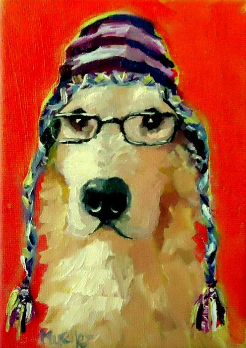 """""""I'm All About Preparation"""" original fine art by Laurie Mueller"""