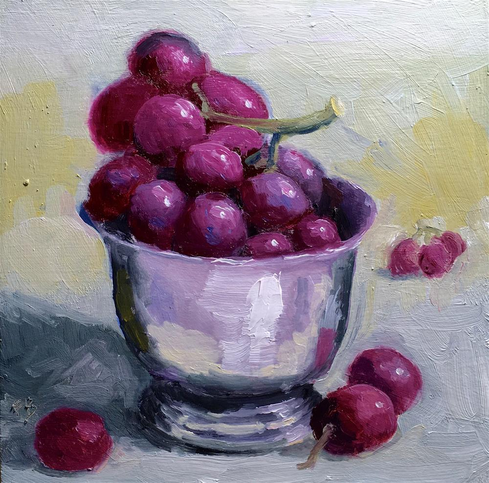 """059 Black Grapes"" original fine art by Fred Bell"