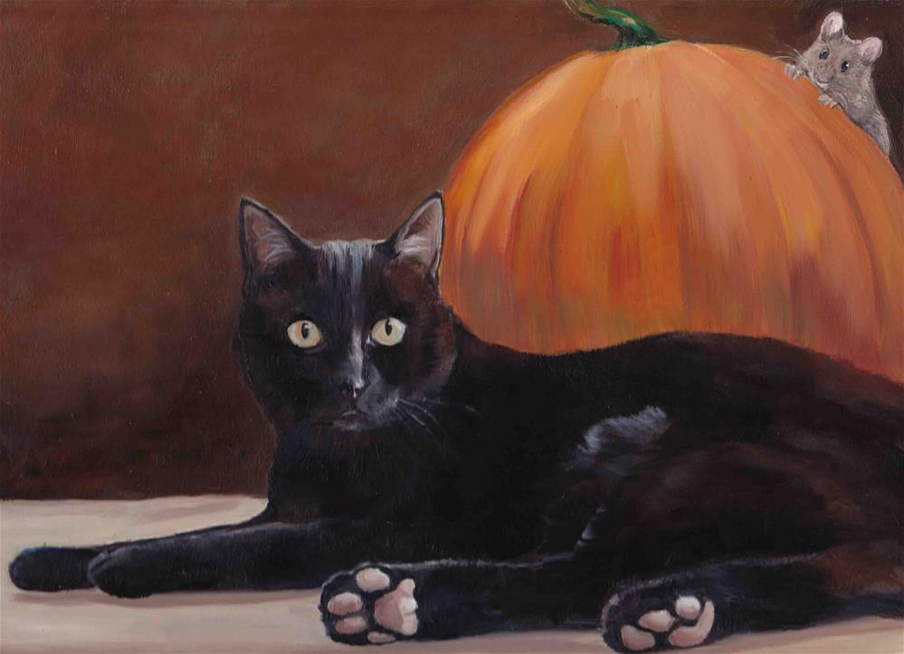 """Sneak Peek oil painting by Charlotte Yealey"" original fine art by Charlotte Yealey"