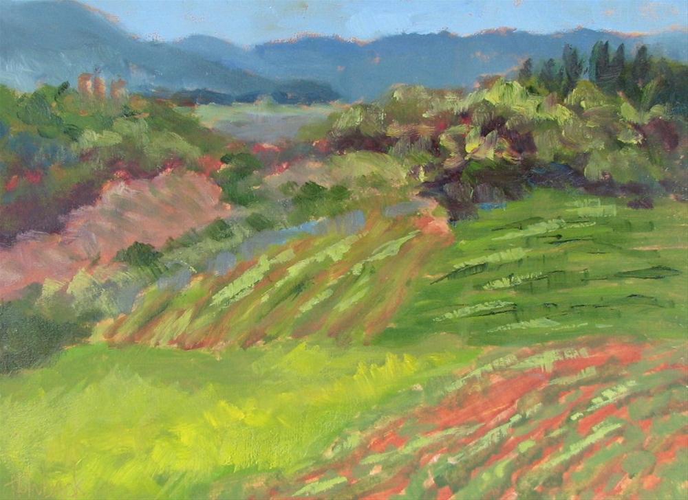 """San Donato View"" original fine art by Pam Holnback"