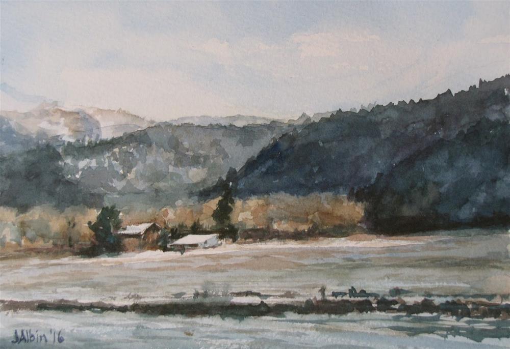 """""""East of Missoula"""" original fine art by Jane Albin"""
