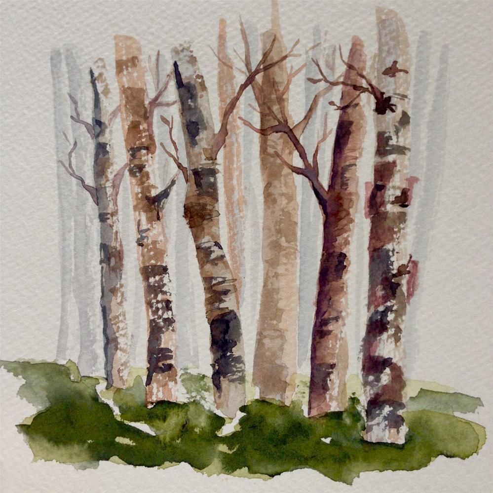"""A Selection of Birch (or is it Birches?)"" original fine art by Eileen Hennemann"
