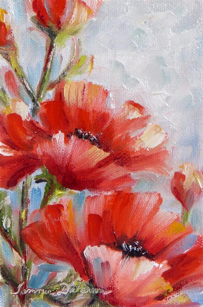 """""""A Dream of Poppies"""" original fine art by Tammie Dickerson"""