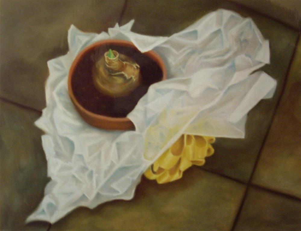 """""""Gift from KittyMae"""" original fine art by Karen Collins"""