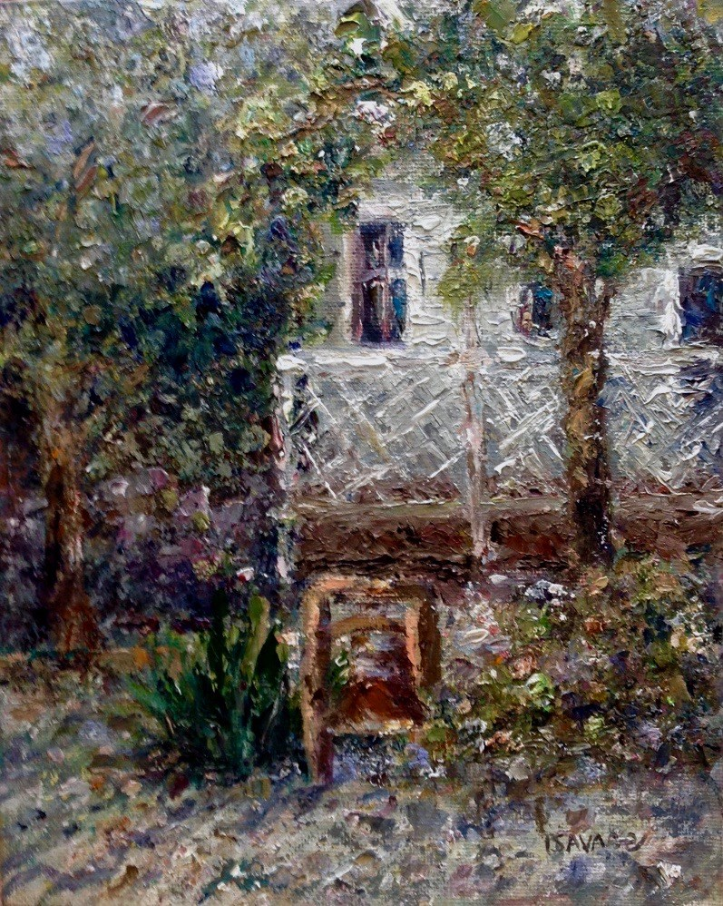 """Old Sanibel Schoolhouse"" original fine art by Judy Usavage"