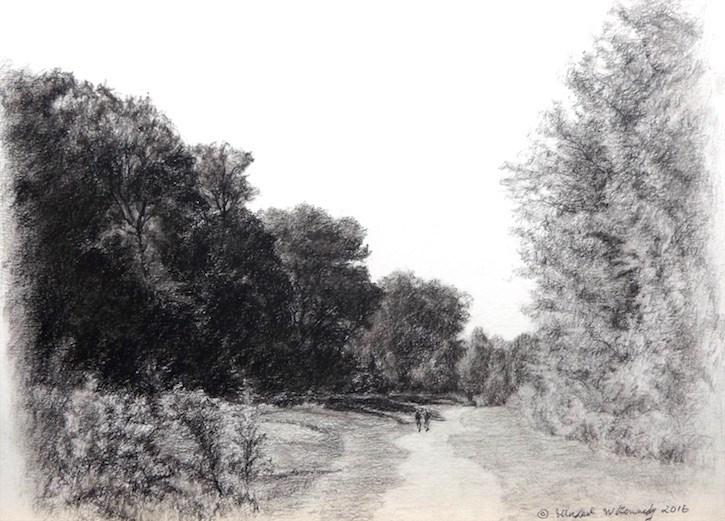 """Afternoon Stroll"" original fine art by Michael Kennedy"