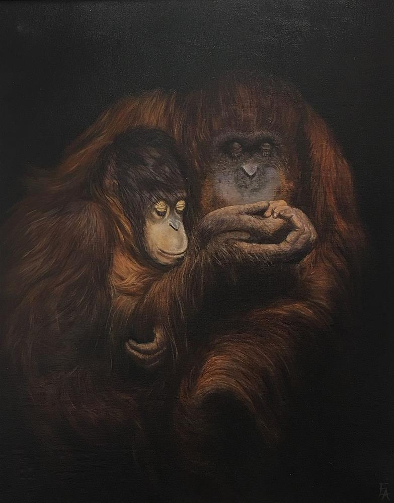 """Honoring Hope (The Orangutan)"" original fine art by Elizabeth Elgin"