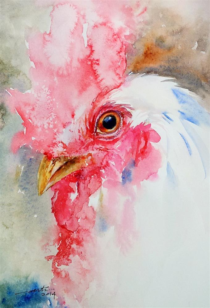 """Cocky"" original fine art by Arti Chauhan"