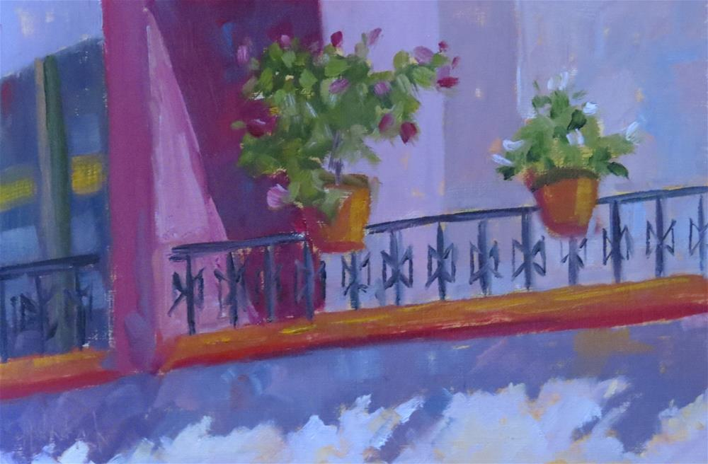 """""""Just Across The Way"""" original fine art by Pam Holnback"""