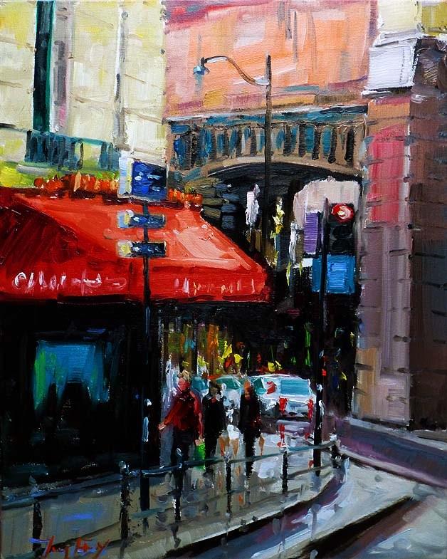 """Irgendwo in Paris"" original fine art by Jurij Frey"