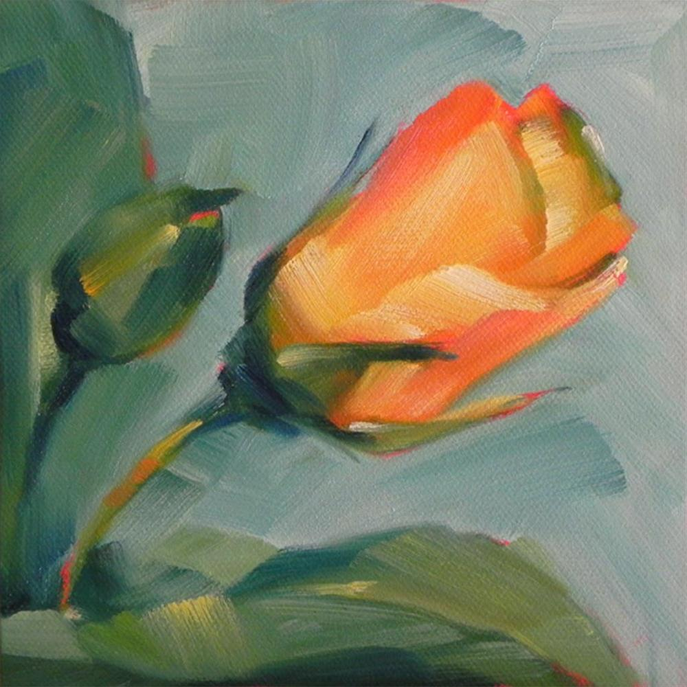 """Yellow Rosebuds"" original fine art by Cheryl Wilson"