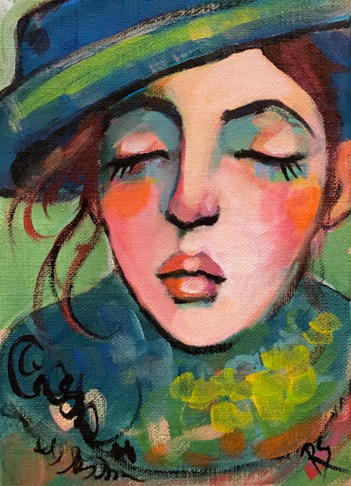 """Her Sweet and Tender Heart "" original fine art by Artcylucy Art by Roberta Schmidt"