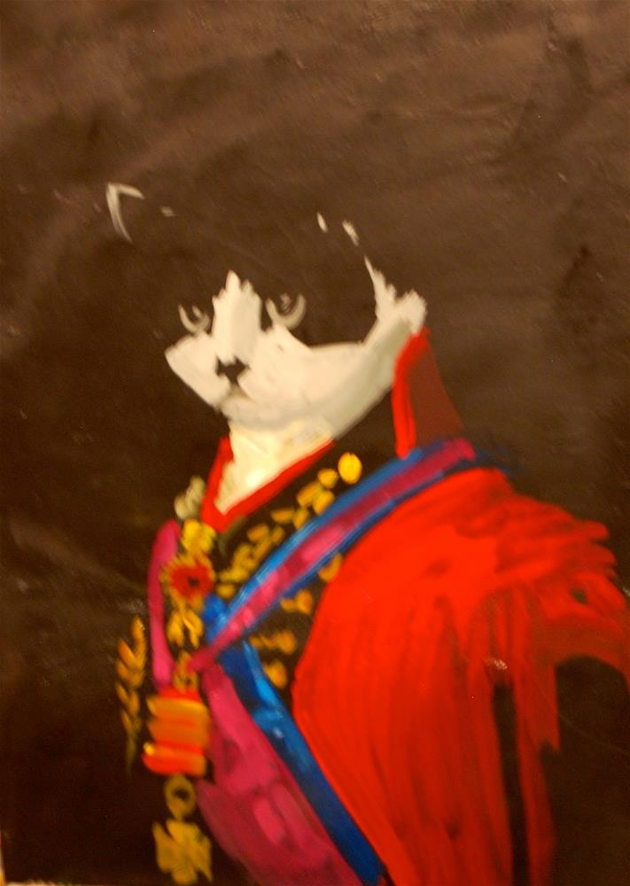 """the knighted cat"" original fine art by michael vigneux"