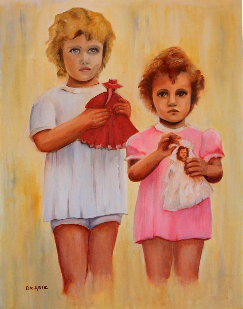"""The Little Kids"" original fine art by Dicksie McDaniel"