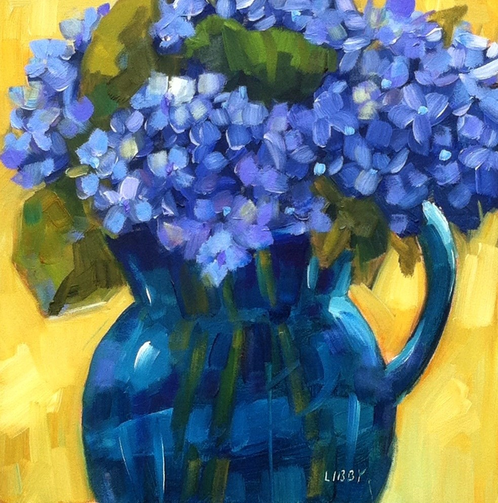 """Blue on Blue"" original fine art by Libby Anderson"